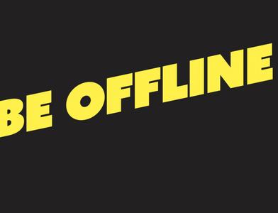 BE OFFLINE - BLACK/LITERATUR